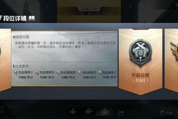 和平精英青铜5段位游戏攻略
